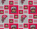 OHIO STATE COTTON FABRIC-NEWEST GEOMETRIC DESIGN- SOLD BY THE YARD
