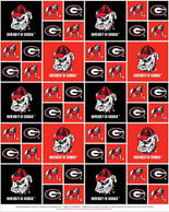 UNIVERSITY OF GEORGIA-COLLEGE-UNIVERSITY-LOGO-PRINTED-COTTON-QUILTING-FABRIC-05