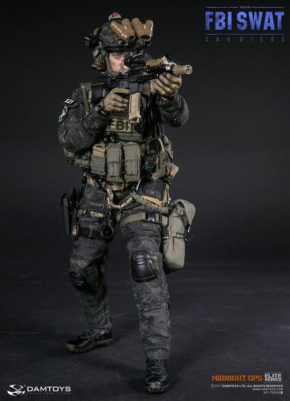 Dam Toys 1/6th scale FBI SWAT Team Agent San Diego Midnight Ops Team B