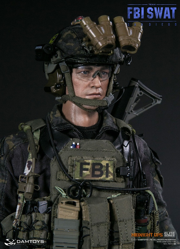Dam Toys 1/6th scale FBI SWAT Team Agent San Diego Midnight Ops Team B