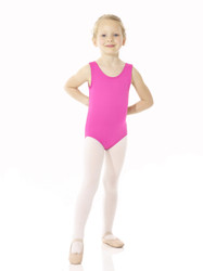 Mondor Essentials Tank Bodysuit in Electric Pink A7