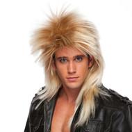 Long Rocker Wig in Mixed Blonde