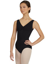 V-Neck Pinch Front Bodysuit