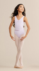 V-Neck Pinch Front Bodysuit, shown in Lavender.