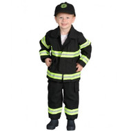 Black Fire Fighter Costume