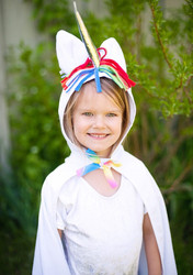 Toddler Unicorn Cape - Front