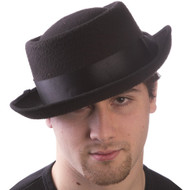 Black Pork Pie Hat