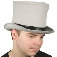 "Grey 8"" Top Hat"