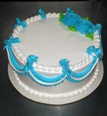Model# 11014 - Round Cake Hoja con Hilo Deco