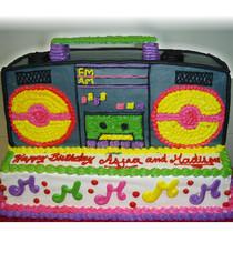 Model# 92001 - Rad Boom Box Cake