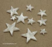 """White Pearloid """"Star"""" Fingerboard / Fretboard Inlay Set"""