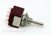 Double Pole Double Throw (DPDT) Mini Toggle Switch (On/On/On)
