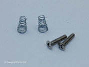 Single Coil Pickup Screws & Spring Pair, Countersunk