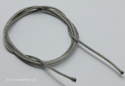 Braided Shielded Waxed Vintage Cloth Covered Wire, 22 gauge/AWG