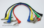 Patch cable bundle (six cables), 25cm each, OFC cabling