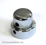 Stacked Concentric Metal Control Knob, Locking
