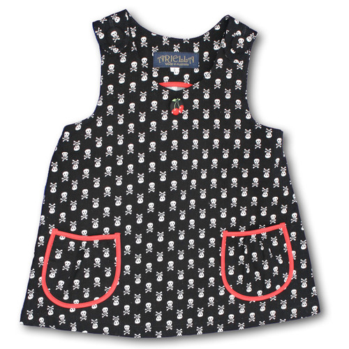 Ariella Skulls Tailored Pinafore Front