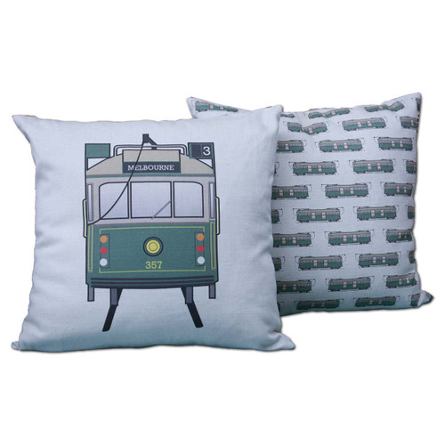 Ariella Melbourne Tram Souvenir Cushion (natural)