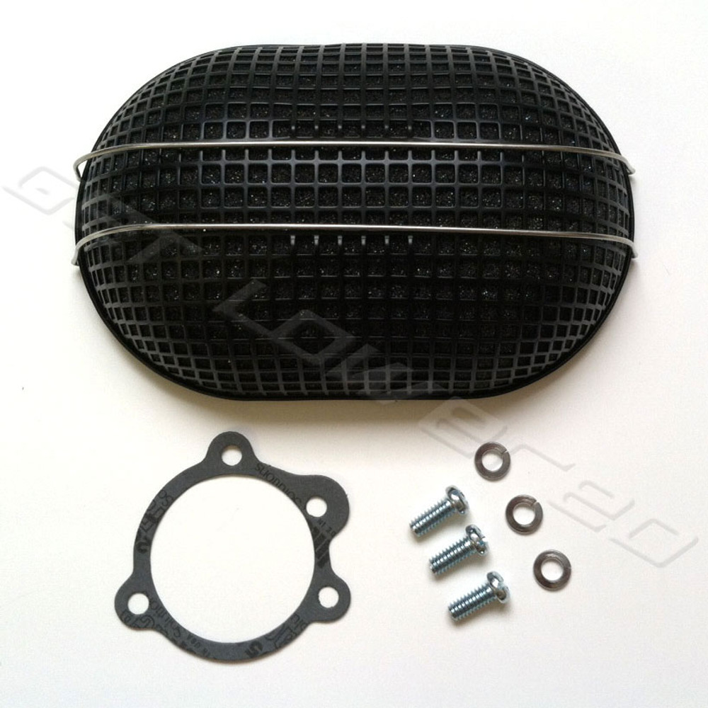 Harley Fxr Turbo: V-Twin Mfg. Black Oval Turbo Mesh Air Cleaner For Bendix