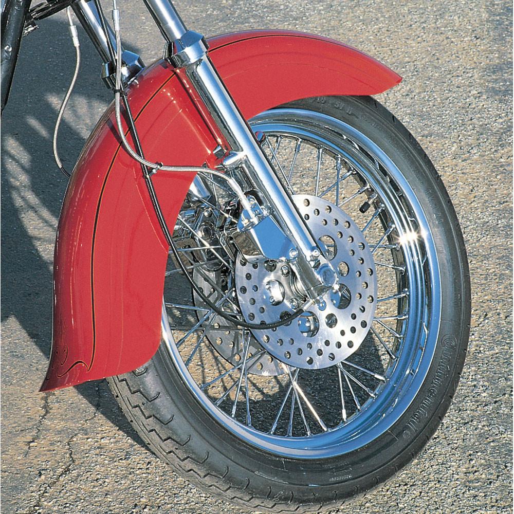 Vintage Half Fenders : Custom chrome skirted fender with flip for harley