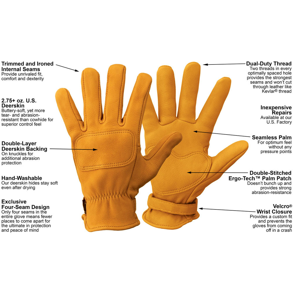 Motorcycle gloves palm protection -  Lee Parks Design Deertours Outseam Gloves