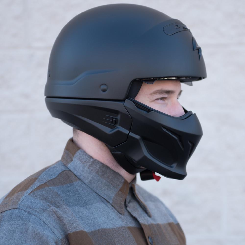 Scorpion Covert Helmet on Sportster Transmission Parts