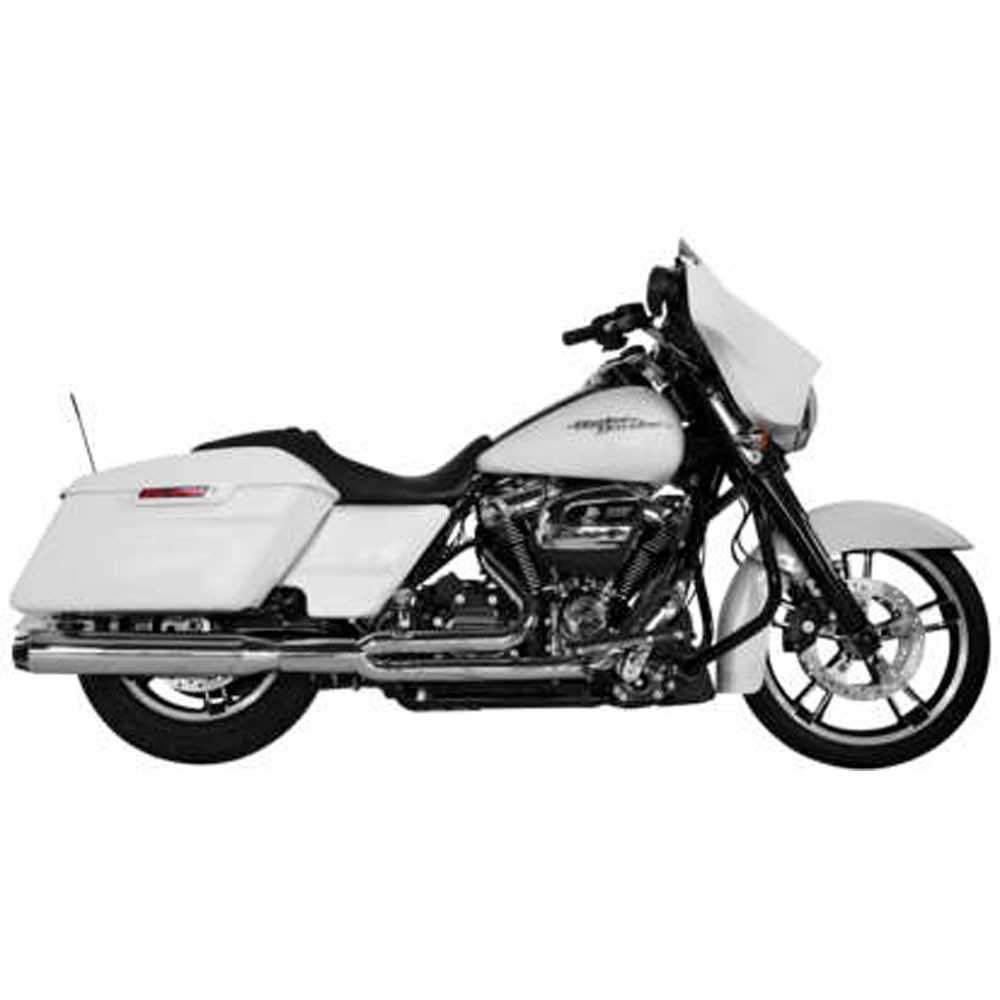 Two Brothers Racing 2-Into-1 Comp-S Exhaust for 2017 Harley Touring - Chrome with Carbon Fiber Tip