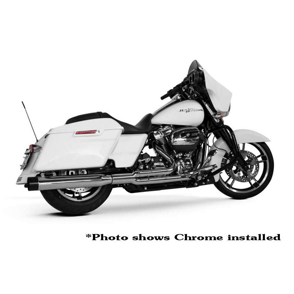 Two Brothers Racing 2-Into-1 Comp-S Exhaust for 2017 Harley Touring - Black with Carbon Fiber Tip