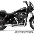 Two Brothers Racing 2-Into-1 Comp-S Exhaust for 1999-2005 Harley Dyna - Black with Carbon Fiber Tip