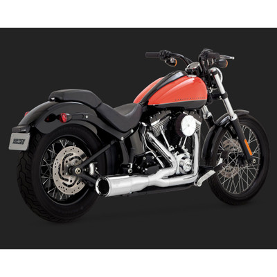 Vance & Hines Hi-Output 2-Into-1 Short Exhaust for 1986-2016 Harley Softail