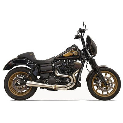 Bassani Greg Lutzka 2-Into-1 Stainless Exhaust for 1991-2016 Harley Dyna