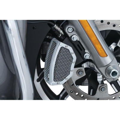 Kuryakyn Mesh Front Brake Caliper Covers for 2008-2017 Harley Touring