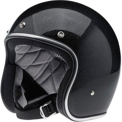 Biltwell Bonanza Helmet - Midnight Black Mini Flake