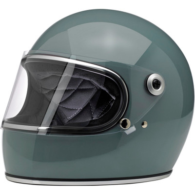 Biltwell Gringo S Helmet - Gloss Agave Blue