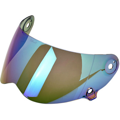 Biltwell Lane Splitter Shield - Rainbow Mirror