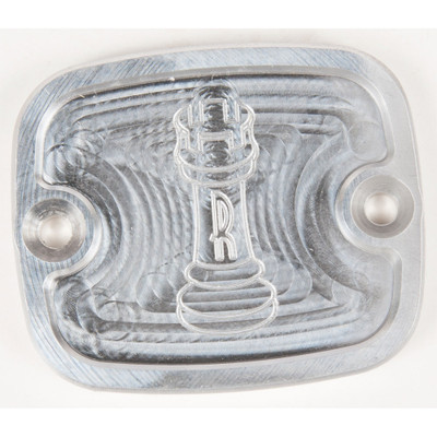 Rooke Customs Front Master Cylinder Cover for 1996-2008 Harley Big Twin - Raw