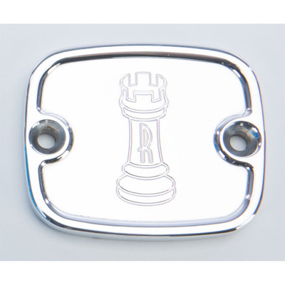 Rooke Customs Front Master Cylinder Cover for 1996-2008 Harley Big Twin - Polished