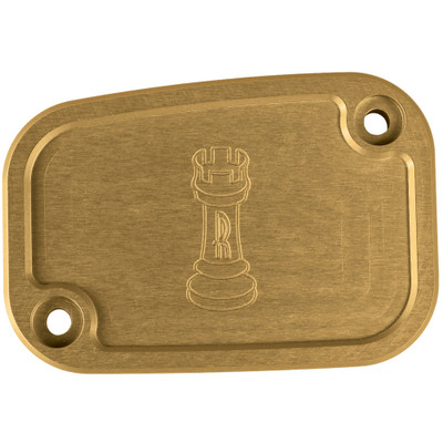 Rooke Customs Front Master Cylinder Cover for 2008-2013 Harley Touring  - Gold