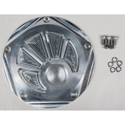 Rooke Customs Derby Cover for Harley Twin Cam - Raw