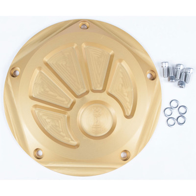 Rooke Customs Derby Cover for Harley Twin Cam - Gold