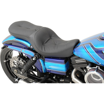 Drag Specialties Low-Profile Touring Seat with Backrest Option for 2006-2017 Harley Dyna - Pillow
