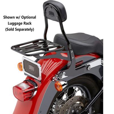 Cobra Detachable Backrest Kit for Harley Softail - Black