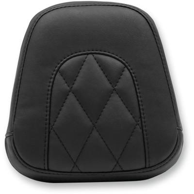 Mustang Diamond Small Sissy Bar Pad for Harley Softail Slim and Blackline - Black