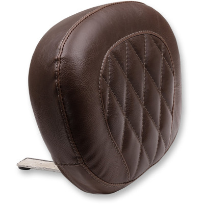 Mustang Diamond Large Sissy Bar Pad for Harley Softail Slim and Blackline - Brown