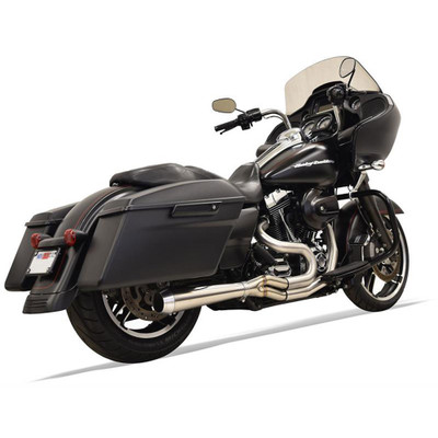Bassani Short Road Rage III Stainless 2-Into-1 Exhaust System for 1995-2016 Harley Touring