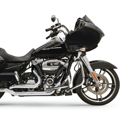 Bassani True-Dual Down Under Exhaust Headpipes for 2017 Harley Touring - Chrome