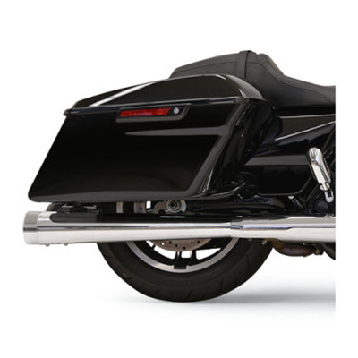 "Bassani 4"" DNT Megaphone Mufflers for 2017 Harley Touring - Chrome with Chrome End Caps"