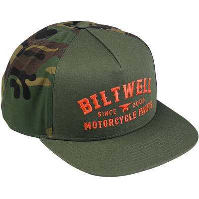 Biltwell Patrol Trucker Hat - Camo/Orange