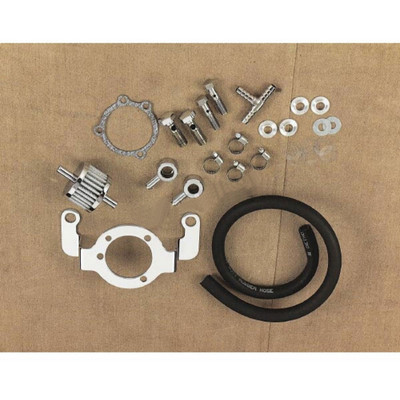 Drag Specialties Crankcase Breather/Support Bracket Kit w/ Filter for 1993-2017 Harley Big Twin