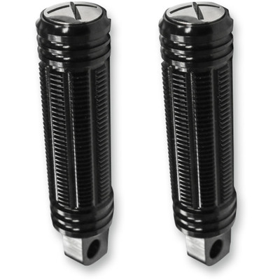 Burly Stash Foot Pegs for Harley - Black